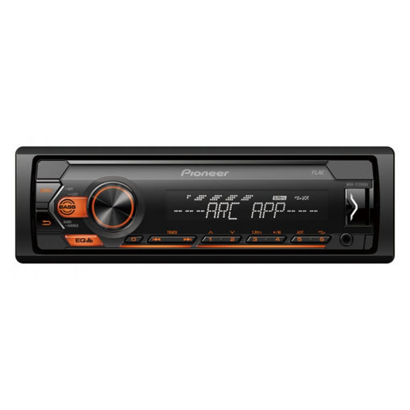 Автомагнитола PIONEER MVH-S120UBA, 1DIN, 4X50Вт, USB, AUX-вход, с поддержкой FLAС