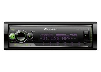 Автомагнитола PIONEER MVH-S520BT, 1DIN, 4X50Вт, USB, AUX-вход, с поддержкой FLAC, Bluetooth