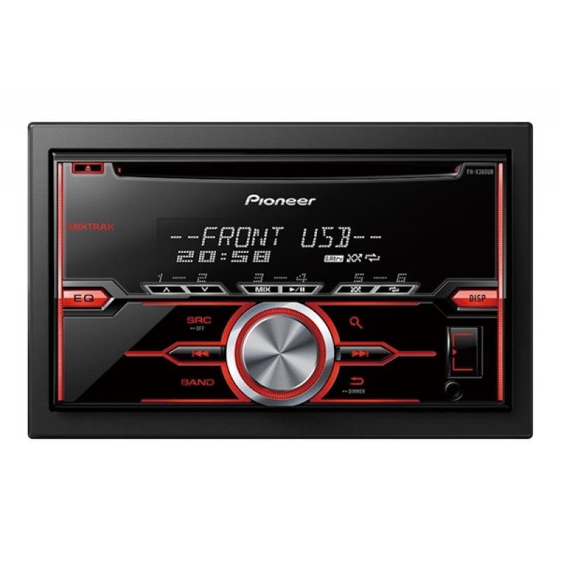 Автомагнитола PIONEER FH-X380UB, 2DIN, CD/MP3-проигрыватель, 4X50Вт, USB, AUX-вход