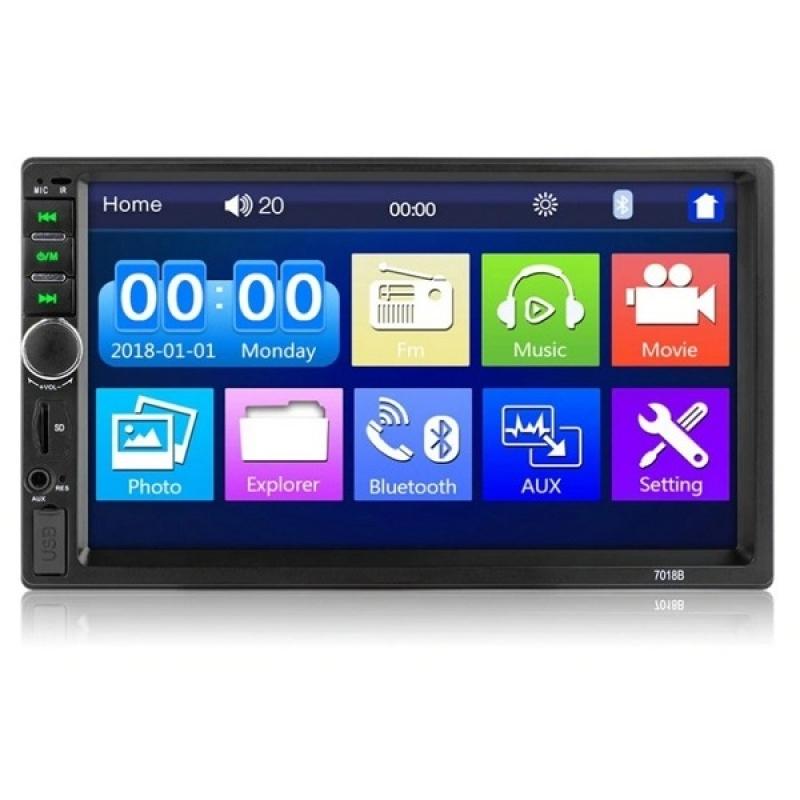 Автомагнитола Marcus DVU-7018B, Мультимедиа, 2DIN, 4X50Вт, USB/SD, AUX-вход, Сенсорный экран, Bluetooth