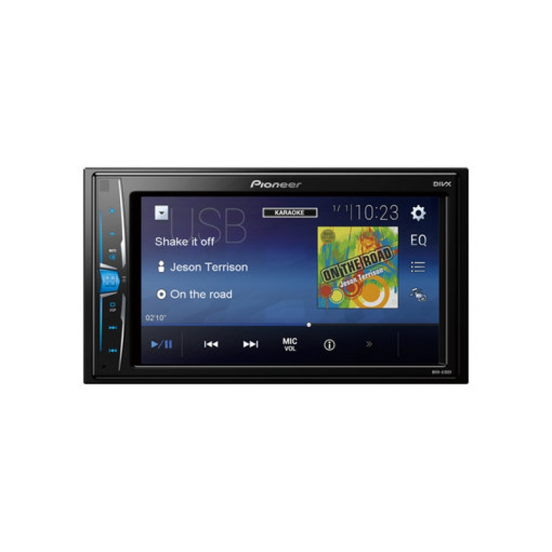 Автомагнитола PIONEER MVH-A100V, Мультимедиа, 2DIN, 4X50Вт, USB, AUX-вход, Сенсорный экран, RGB-подсветка, 3 RCA-выхода