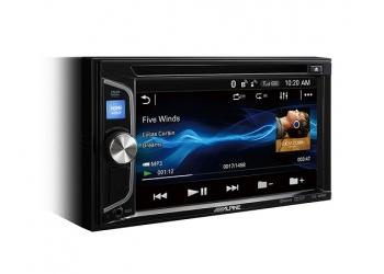 Автомагнитола ALPINE IVE-W560BT-R, Мультимедиа, 2DIN, CD/DVD-проигрыватель, 4X50Вт, USB, AUX-вход, Bluetooth