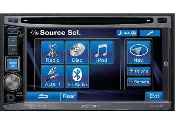 Автомагнитола ALPINE IVE-W530E, Мультимедиа, 2DIN, CD/DVD-проигрыватель, 4X50Вт, USB, AUX-вход