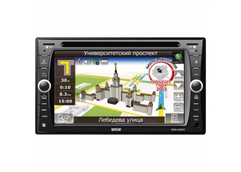 Автомагнитола MYSTERY MDD-6280NV, Мультимедиа, 2DIN, CD/DVD-проигрыватель, 4X50Вт, USB/SD, ТВ-тюнер, Bluetooth, Навигация