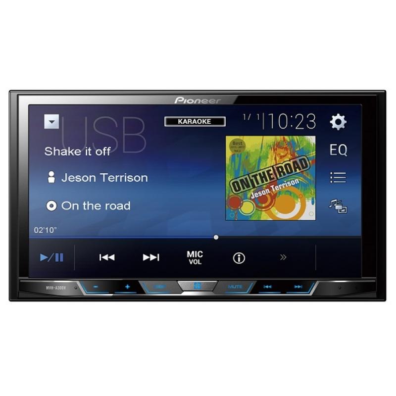 Автомагнитола PIONEER MVH-A300V, Мультимедиа, 2DIN, 4X50Вт, USB, AUX-вход, Сенсорный экран, RGB-подсветка, 3 RCA-выхода