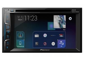 Автомагнитола PIONEER AVH-Z1100DVD, Мультимедиа, 2DIN, CD/DVD-проигрыватель, 4X50Вт, USB, AUX-вход, Apple CarPlay,Waze, Full HD видео