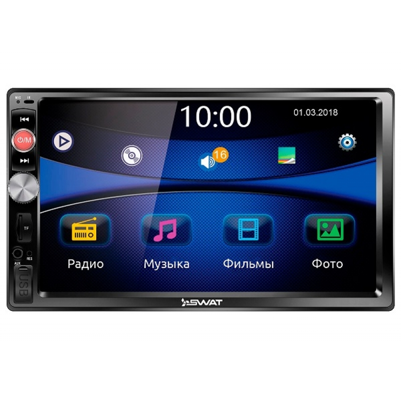 Автомагнитола SWAT CHR-5140, Мультимедиа, 2DIN, 4X40Вт, USB/SD, AUX-вход, Сенсорный экран, Bluetooth