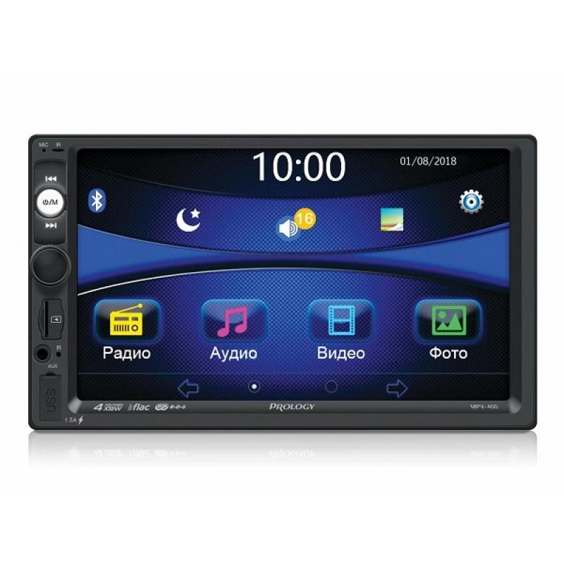Автомагнитола PROLOGY MPV-400, Мультимедиа, 2DIN, 4X55Вт, USB/SD, AUX-вход, Сенсорный экран, Bluetooth