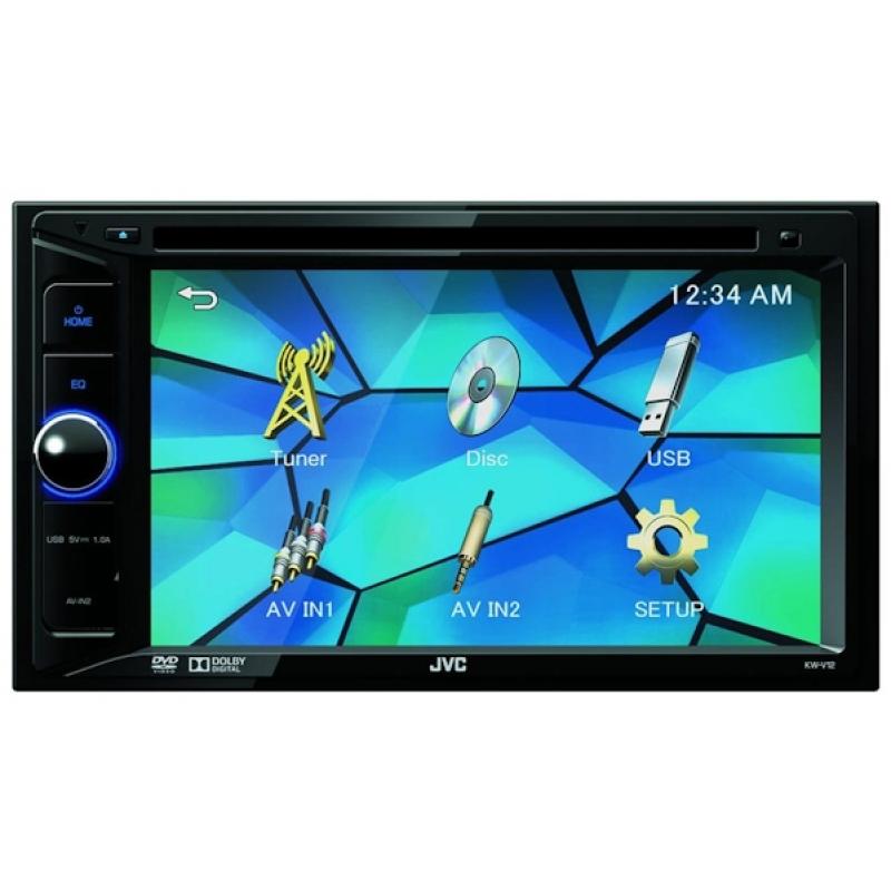 Автомагнитола JVC KW-V12, Мультимедиа, 2DIN, CD/DVD-проигрыватель, 4X50Вт, USB, Сенсорный экран