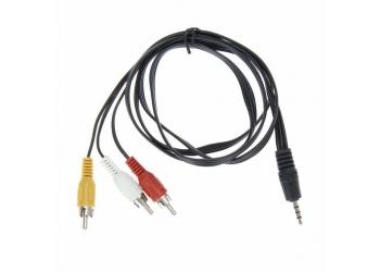 Аудио видео RCA кабель - 3.5мм jack