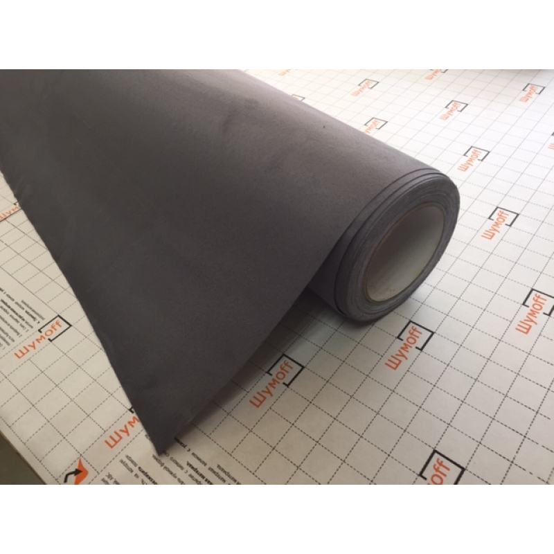 Алькантара самоклеящаяся цвет Темно-серый Evo 1,5м (цена за 1 погонный метр)