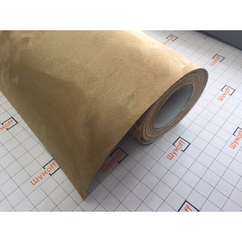 Алькантара самоклеящаяся цвет Светло-коричневый Evo 1,5м (цена за 1 погонный метр)