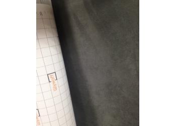 Алькантара (искуственная замша на клеевой основе) цвет серый, ширина рулона 1,25 м. (цена за 1 погонный метр)
