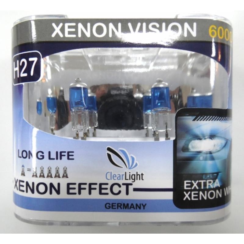 Галогеновая лампа ClearLight H 27 Xenon Vision 12V-55W  2 шт