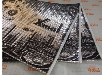 X.Mat М4 (0,5м*0,6м*4,0мм) - Вибро материал