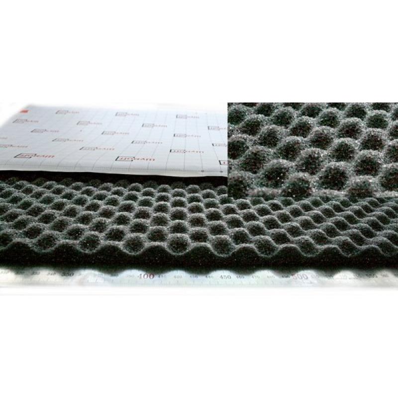Шумофф Герметон А 15 (0,75м*1,00м*15мм) - шумо поглотитель и уплотнитель на основе спец ППУ,  рельеф пирамидка
