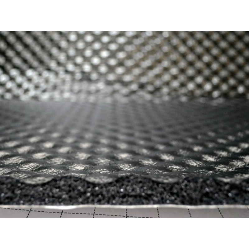 Шумофф Герметон А 15Л (0,75м*1,00м*15мм) - шумо поглотитель и уплотнитель на основе спец ППУ, рельеф пирамидка