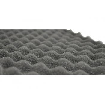 Шумофф Absorber А15 (0,75м*1,00м*15мм) - шумо поглотитель и уплотнитель Абсорбер рельеф пирамидка