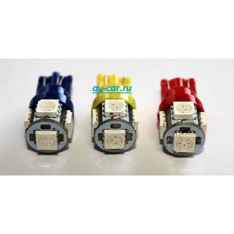 T10-5SMD BLUE светодиод