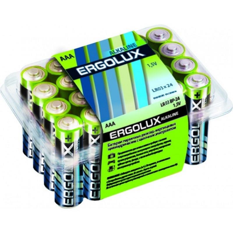 Батарейка ERGOLUX LR03 BP-24