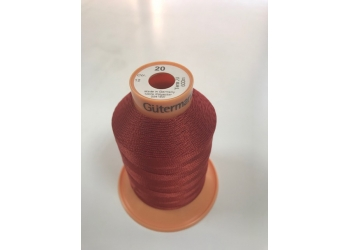 Нитки Gutermann Tera ( Гутерманн Тера ) 20 цвет 12  бордовый, намотка 600м, Сделано в Германии