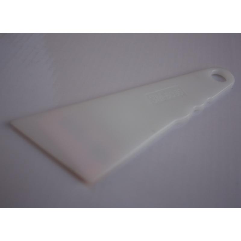 PL-030 Скребок 3М-BOSS белый пластмассовый треугольник малый (50х110 мм)