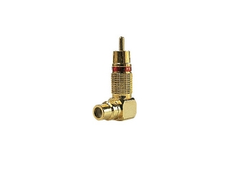 RCA коннектор MYSTERY MRC-6 (угловой переходник)