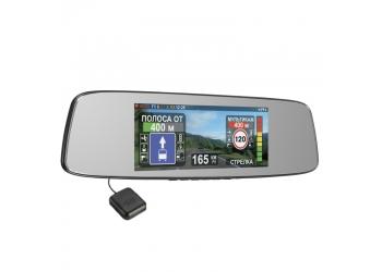 Видеорегистратор в зеркале с антирадаром и GPS INTEGO VX-800MR