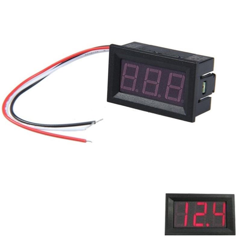 Вольтметр 3 провода Pilot (красный)