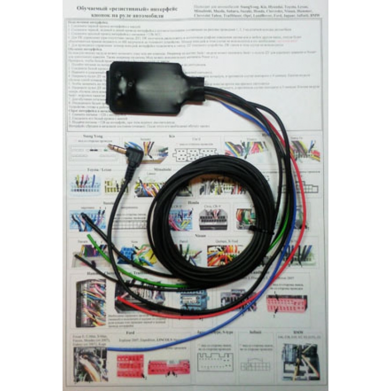 Zexma ( Зексма ) MFD207UN-IR Обучаемый универсальный адаптер (интерфейс) кнопок на руле